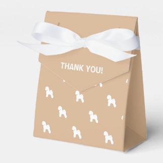 Customizable Bichon Frise Silhouette Gift Box