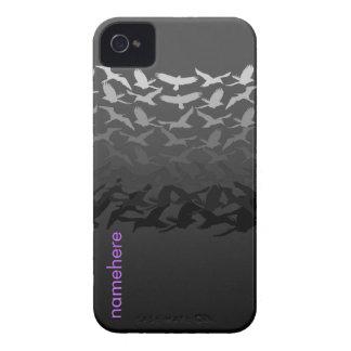 Customizable: Bird flight black iPhone 4 Cover