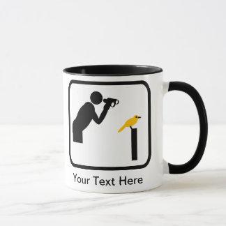 Customizable Birder / Bird Watcher Logo Mug