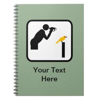 Customizable Birder / Bird Watcher Logo Notebook
