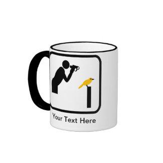 Customizable Birder / Bird Watcher Logo Ringer Mug