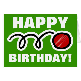 Customizable Birthday card for cricket players