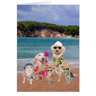 Customizable Birthday Card in Hawaiian