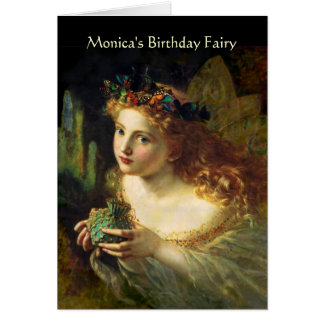 Customizable Birthday Fairy Card