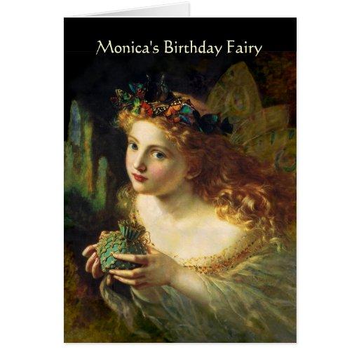 Customizable Birthday Fairy Greeting Card