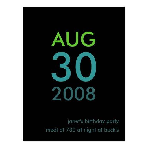 Customizable - Birthday invite - Simple Invitation Post Card