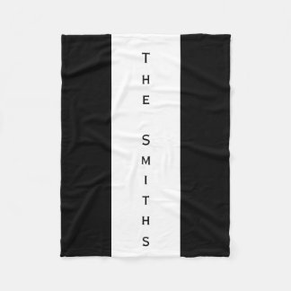 Customizable Black and White Blanket