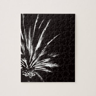 Customizable Black and White Palm Tree Puzzles