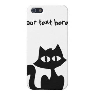 Customizable Black Cat Silhouette Case For iPhone 5/5S