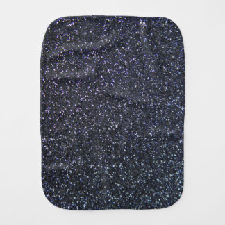 Customizable Black Glitter Background Burp Cloths