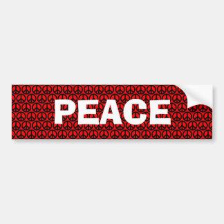 Customizable Black & Red Peace Bumper Sticker