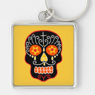 Customizable Black Sugar Skull Key Chain