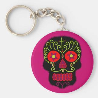 Customizable Black Sugar Skull Key Chains