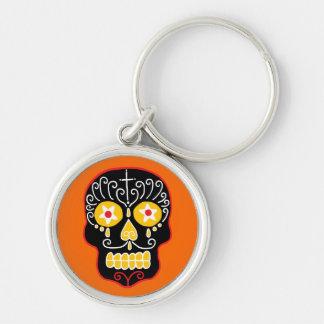 Customizable Black Sugar Skull Keychain