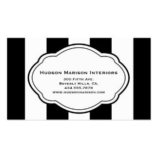 Customizable Black White Business Card