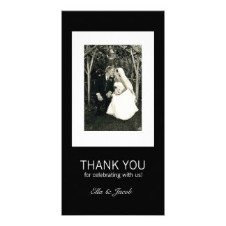 Customizable Black White Chic Photo Card