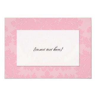 Customizable Blank Pink Damask Card