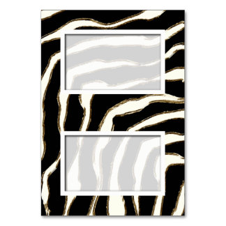 Customizable Blank Zebra Print Name Place Card Table Cards