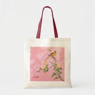Customizable: Blossoms and bird Budget Tote Bag