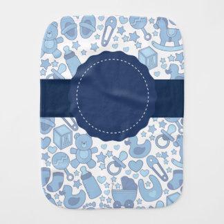 Customizable Blue, Baby-Themed Burp Cloth