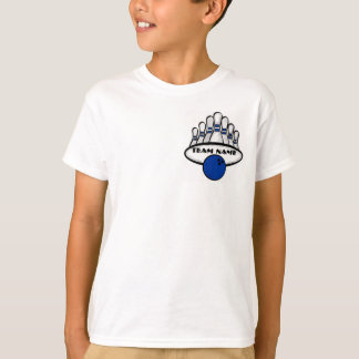 Customizable blue bowling team boys tee