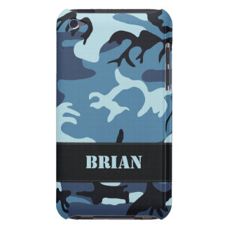 Customizable Blue Camo iPod Touch Case