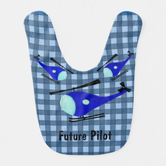Customizable blue helicopter bib