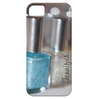 Customizable Blue Nail Polish iPhone 5 Cover