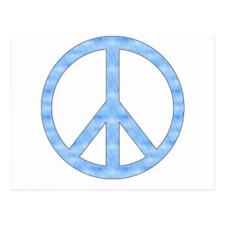 Customizable Blue Peace Sign Postcard