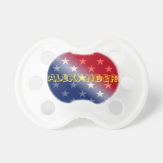 Customizable Blue Red and White Baby Pacifiers