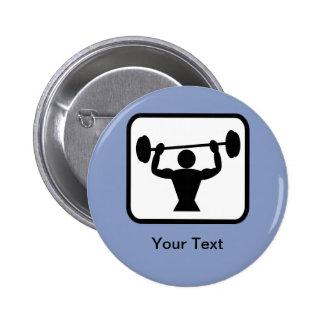 Customizable Bodybuilder / Weightlifter Logo 6 Cm Round Badge