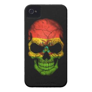 Customizable Bolivian Flag Skull iPhone 4 Case-Mate Cases