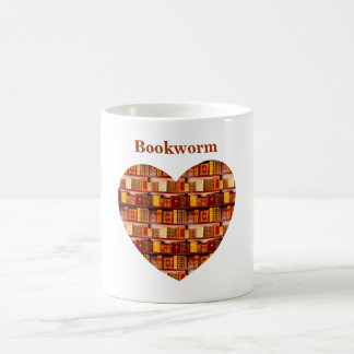 Customizable Book Themed Heart Design Basic White Mug