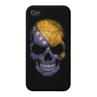 Customizable Bosnian Flag Skull iPhone 4 Covers