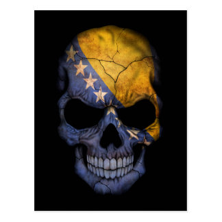 Customizable Bosnian Flag Skull Postcard