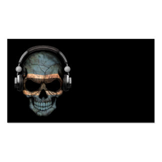 Customizable Botswana Dj Skull with Headphones Pack Of Standard Business Cards