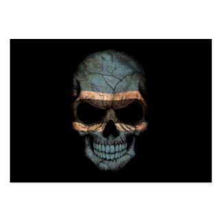 Customizable Botswana Flag Skull Pack Of Chubby Business Cards