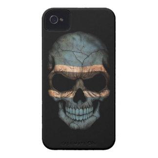 Customizable Botswana Flag Skull iPhone 4 Case