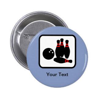 Customizable Bowling Logo 6 Cm Round Badge