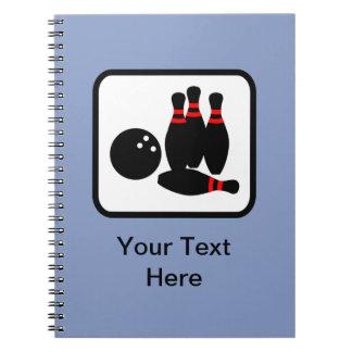 Customizable Bowling Logo Notebook