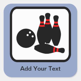 Customizable Bowling Logo Square Sticker