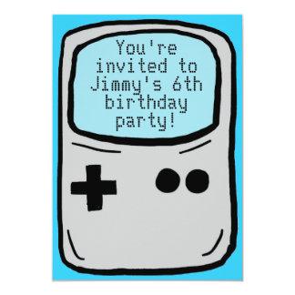 Customizable boy's gamer birthday party invites