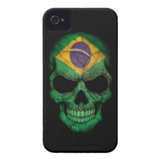 Customizable Brazilian Flag Skull iPhone 4 Covers