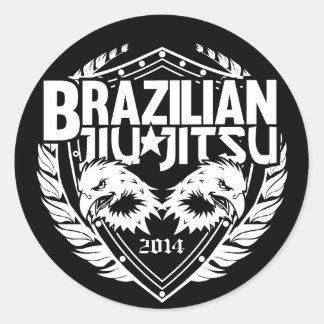 Customizable Brazilian Jiu-Jitsu Round Sticker