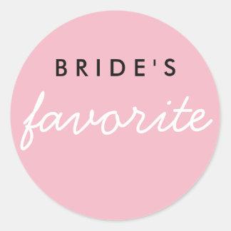 Customizable Bride's Favorite Round Sticker