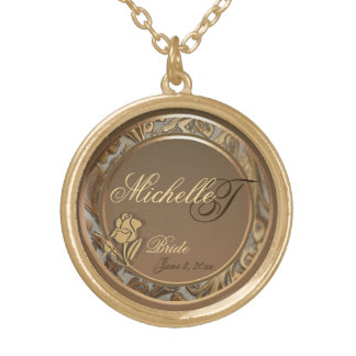Customizable Brides Gold Keepsake Necklace