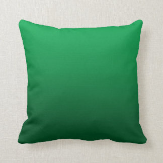 Customizable Bright Green Gradient Pillow