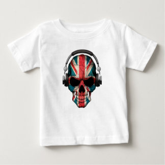 Customizable British Dj Skull with Headphones Baby T-Shirt