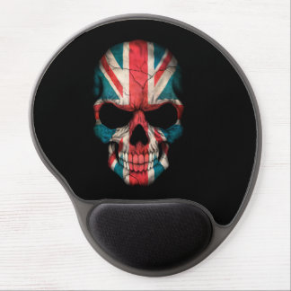 Customizable British Flag Skull Gel Mousepad