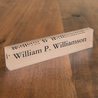 Customizable Bronze Background Name Plate